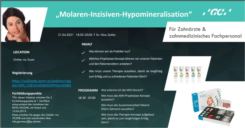 GC Germany Webinar Molaren-Inzisiven-Hypomineralisation