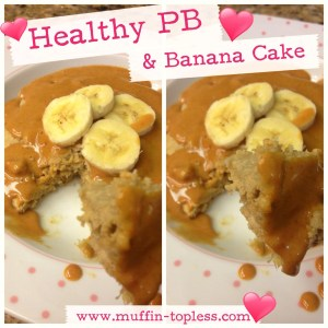 Healthy Peanut Butter and Banana Cake