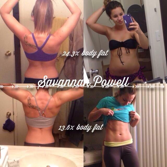 Savannah Powell using the Fit Body Program