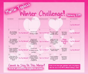 Muffin Topless Winter Fitness Challenge – February 2014 Calendar & Workouts!