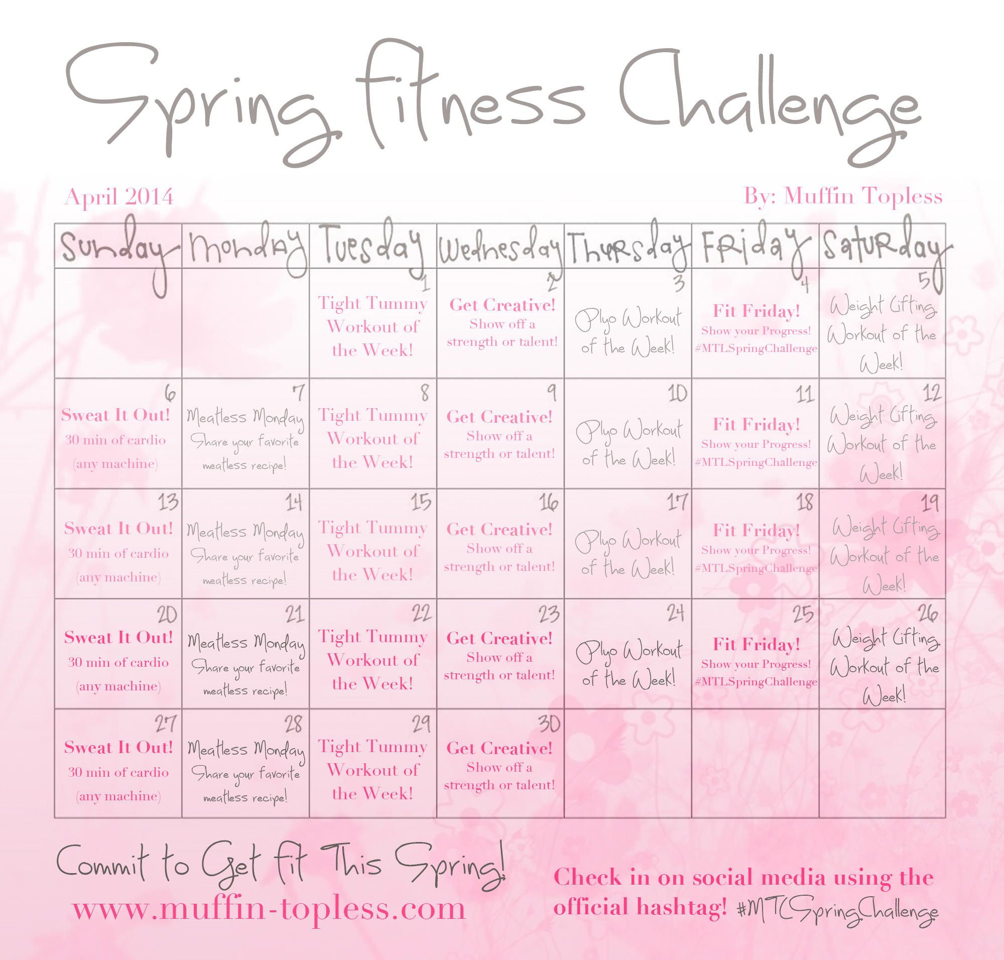 FREE Spring Fitness Challenge to get you in shape for Summer!