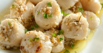 Garlic and Rosemary Scallops