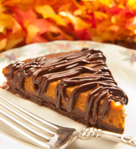 Gluten-Free Chocolate-Bottomed Pumpkin Tart