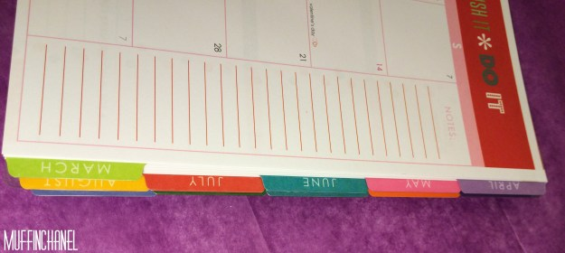 muffinchanel erin condoner life planner 2015 review stripes covers clips calendar wash tape spiral bound 2014 vs 2015 party pops stripes zen gems jolly jester ruler month tabs
