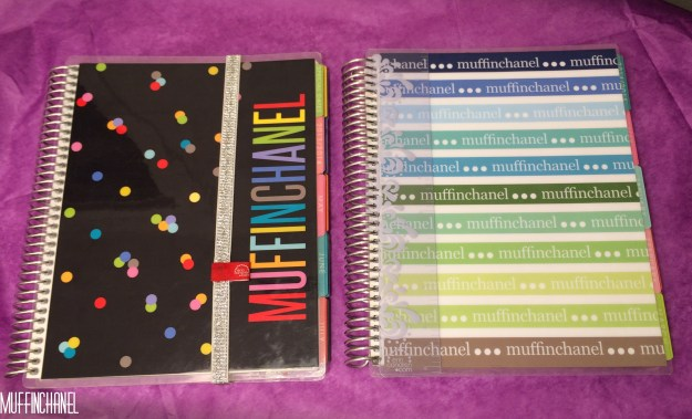 Left, very first Life Planner (Party Pops) Right, 2015 Life Planner (Signature Stripes)