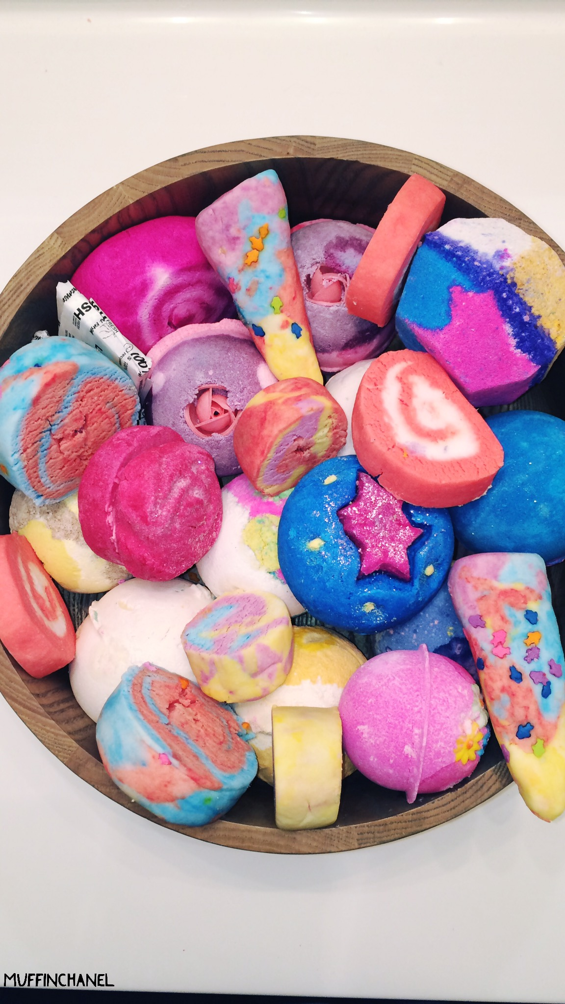 Make Your Own Bubble Bars LUSH Inspired MuffinChanel