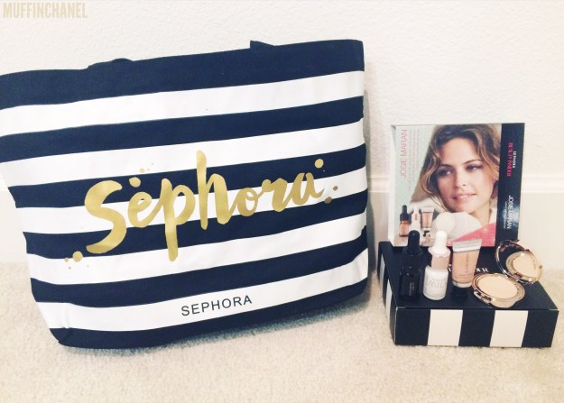 sephora muffinchanel perks holiday 250 point perk 500 point perk 250pt 500pt josie maran spear canvas tote bag