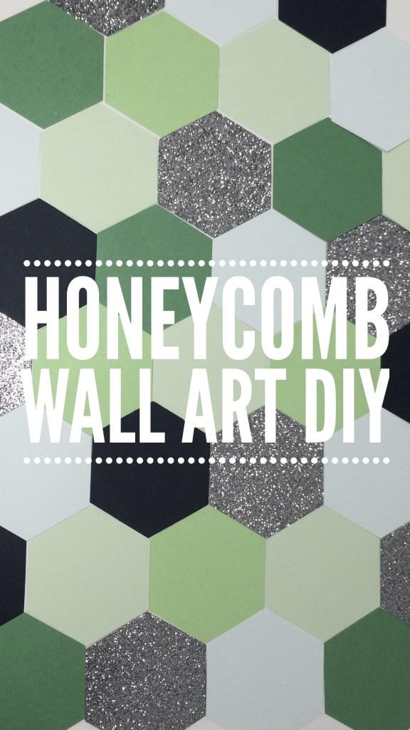 muffinchanel honeycomb wall art diy hexagon canvas cute art pinterest decor