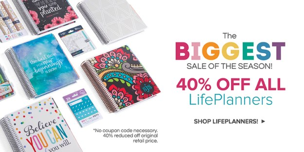Erin Condren 40% off sale why you need a paper planner life planner coupon