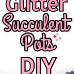 Spring Glitter Succulent Pots   DIY