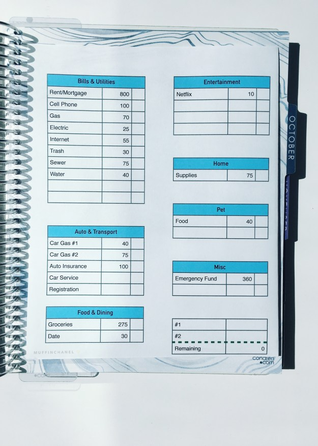 how i set up my horizontal erin condren life planner and monthly budget muffinchanel monthly budget