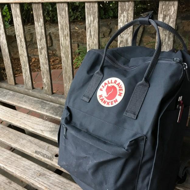 fjallraven kanken backpack review how big what's in my bag muffinchanel slim pockets
