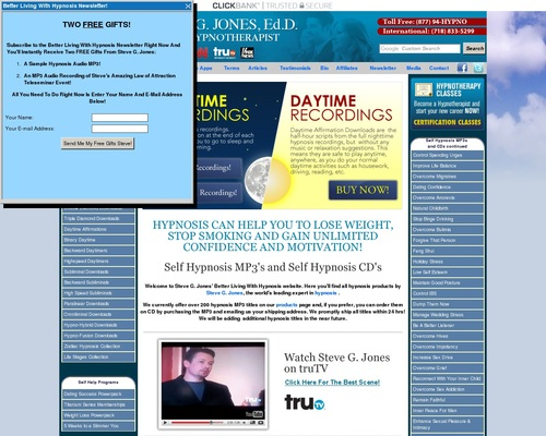 Review of Steve G. Jones – Self Hypnosis MP3 and Self Hypnosis CDs