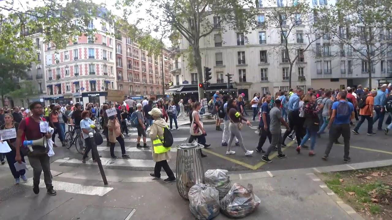manifestation contre le #Pass Sanitaire -Paris