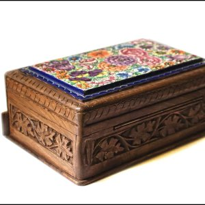 Handmade lock box / jewellery box / wooden lock box / Kashmir paper mache/ kashmir walnut  box/ Organiser box /  Beauty box
