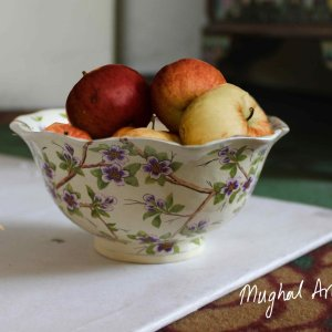 Paper mache bowl – Handmade floral(set of 6 pieces)