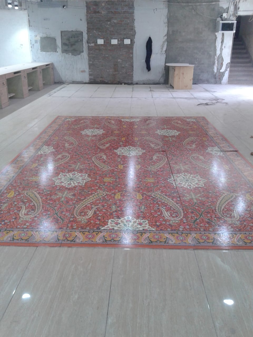 Floor-almond-pattern, Floor handmade paintings