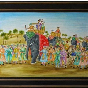 Battle of Panipat art / Wall Hanging