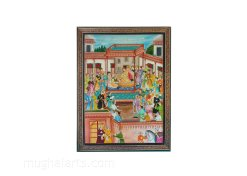 Mughal art, Mughal miniature painting, Mughal Arts Mughal arts painting - Miniature art - Jahangir in Court