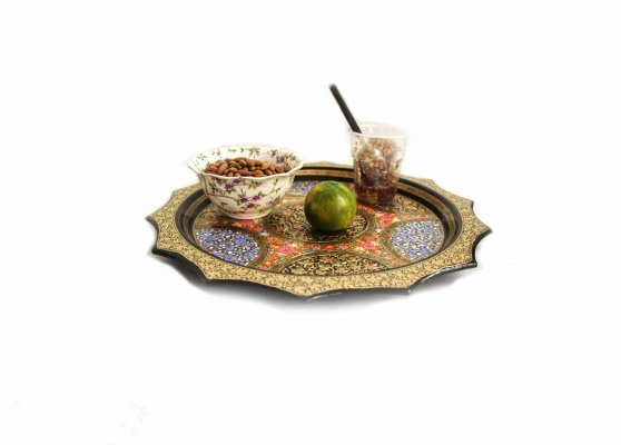 Embossed floral Mughal Tray scaled