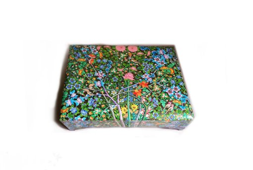 Floral Jewellery box, gold painted box, handmade craft, wooden box for jewelry,