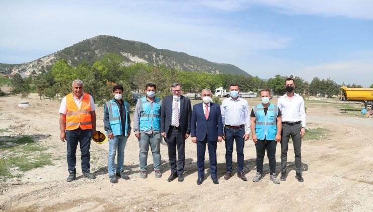 Başkan Işık, Millet Bahçesi inşaatını inceledi