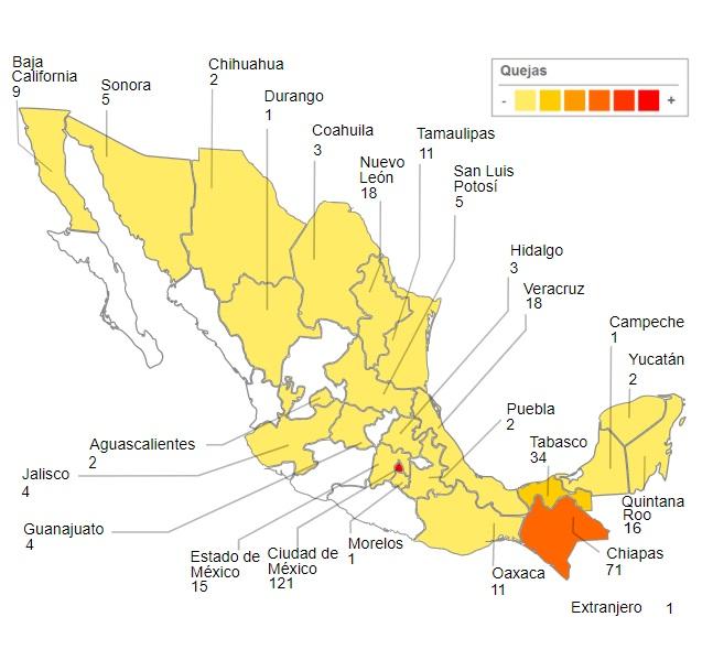 Imagen: Sistema Nacional de Alerta de Violación a los Derechos Humanos