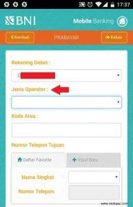 beli pulsa lewat mobile banking 3 pilih operator