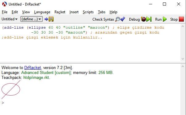 lisp dilinde elips oluşturma