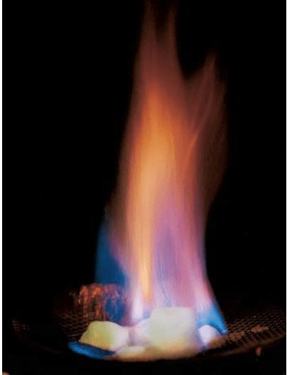 Havada yanan metan hidrat