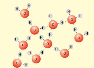 sıvı haldeki suyun kristal yapısı