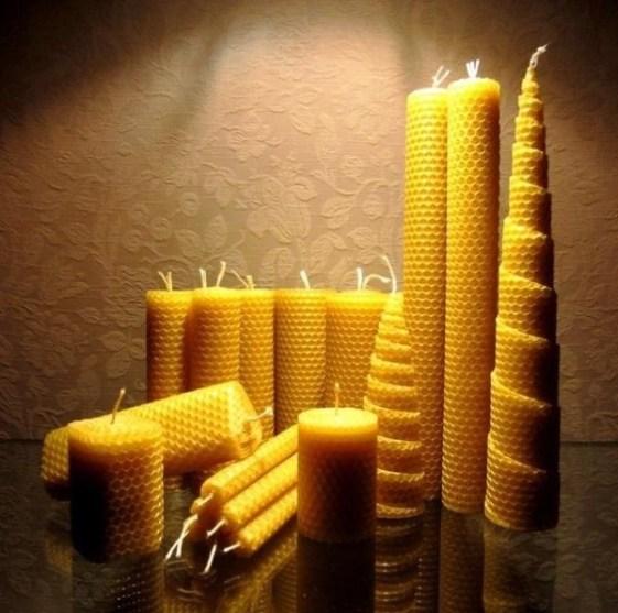 Mesilasvaha küünlad