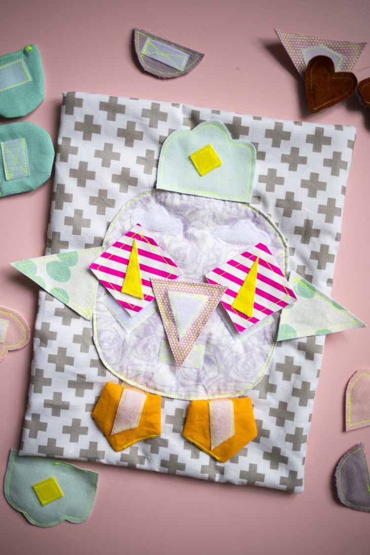 DIY QUIET BOOK LOVELY MONSTER