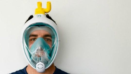 Italianos criam ventiladores a partir de máscara de mergulho da Decathlon
