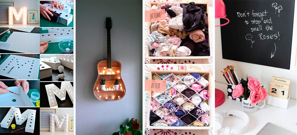 15 ideas geniales para decorar tu cuarto sin gastar tanto ... on Room Decor Manualidades Para Decorar Tu Cuarto id=98720