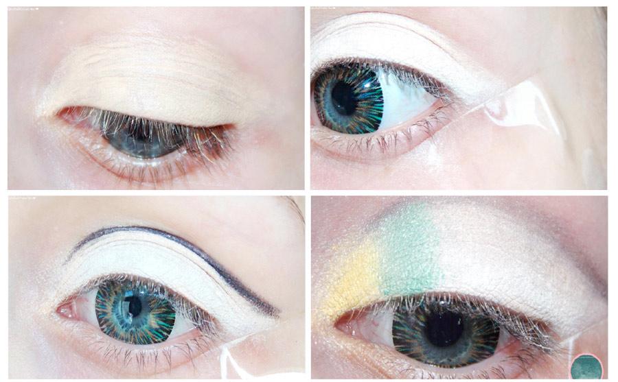 efecto arcoíris en tus ojos