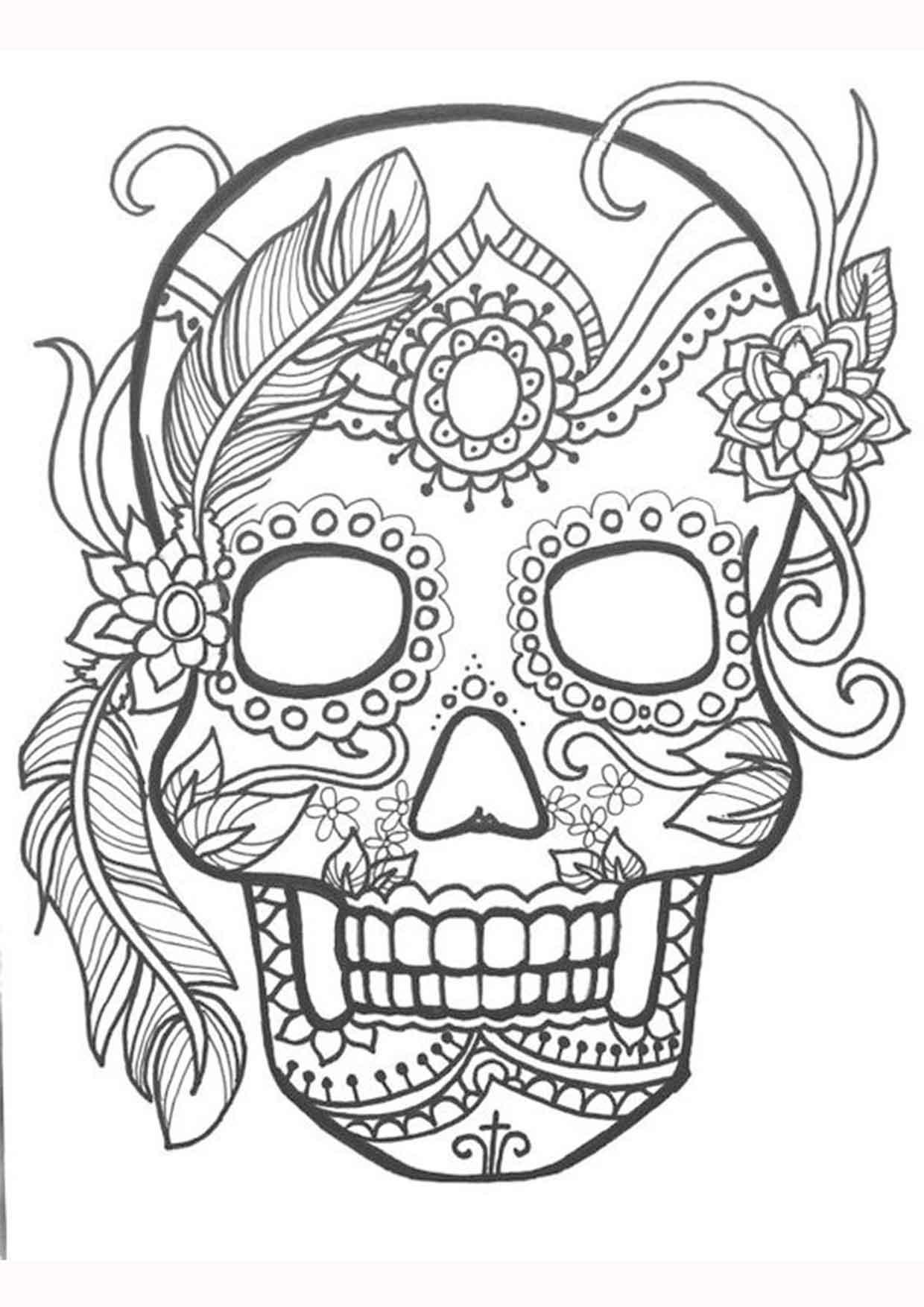 20 Padrisimos Mandalas De Dia De Muertos Para Imprimir Y