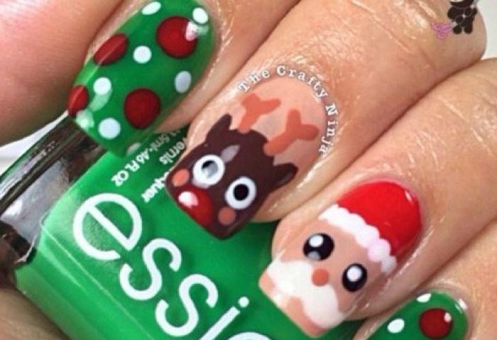 Decoración De Uñas Navideñas 31 Ideas De Diseños Para Navidad