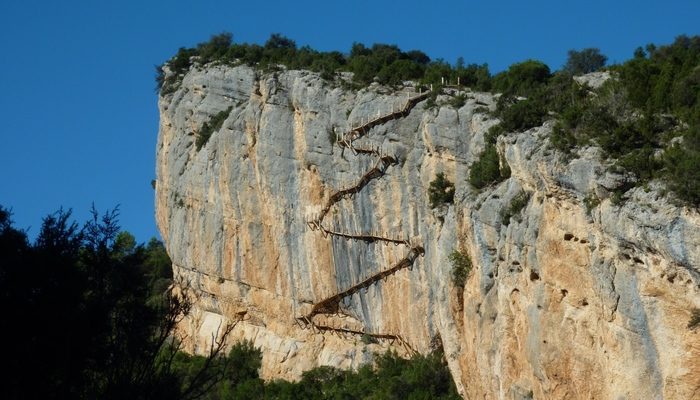 De Montfalcó al Congost de Mont-rebei por las pasarelas
