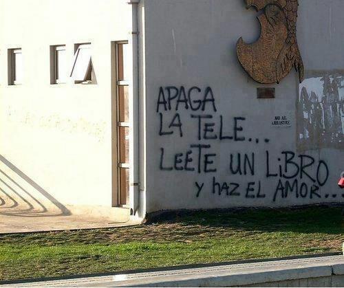 Fotografía de un grafiti de la entrada de prueba
