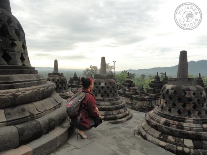 En Borobudur, Indonesia.