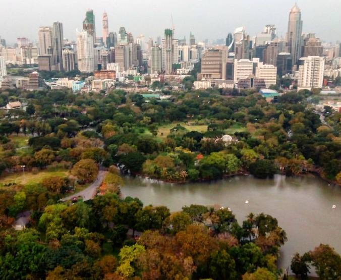 ¿Central Park en New York? ¡NO! Lumphini Park