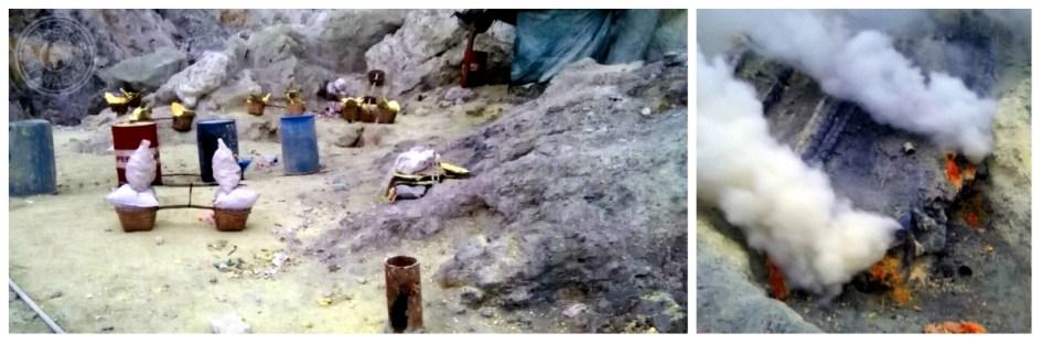 Explotación del azufre en el Kawan Ijen