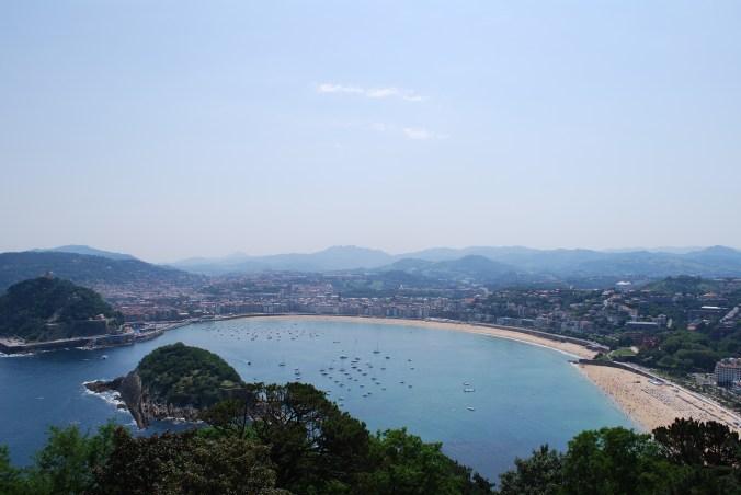 Vista de la Playa de la Concha desde el Monte Igueldo