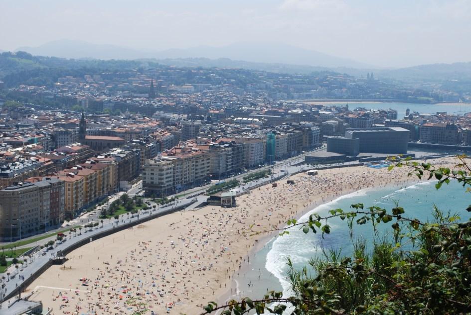 Vistas de las playas desde el Monte Urgull