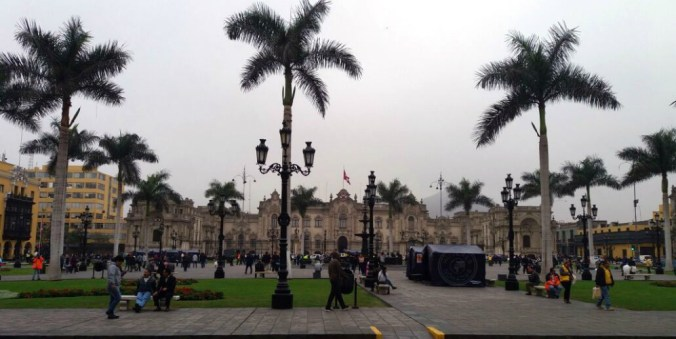 Vista del Centro Histórico de Lima