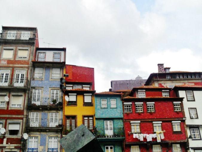 Típicas casas de colores de la ribera
