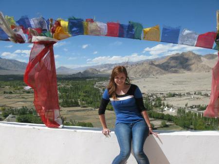 Andrea en Leh, Ladakh, India, septiembre de 2012