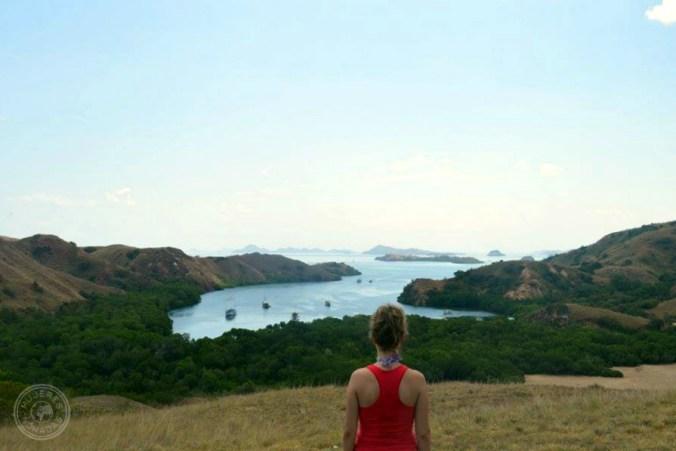 Disfrutando de la isla de Rinca en Indonesia.