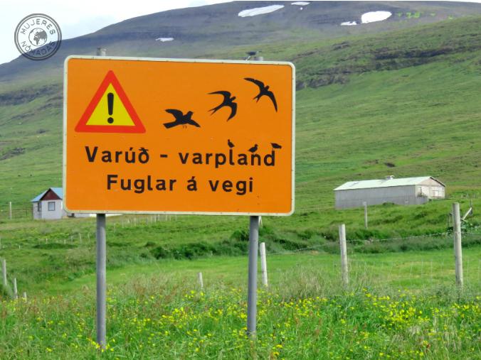 Señal de tráfico islandesa